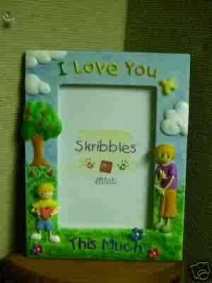 Russ Skribbles Photo Frame - I Love You This Much! - FREE USA SHIPPING!!!