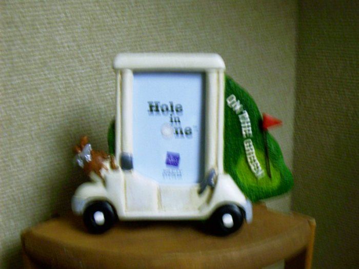 Russ Berrie Hole in One Golf Photo Frame - On the Green Golf Cart FREE USA SHIPPING