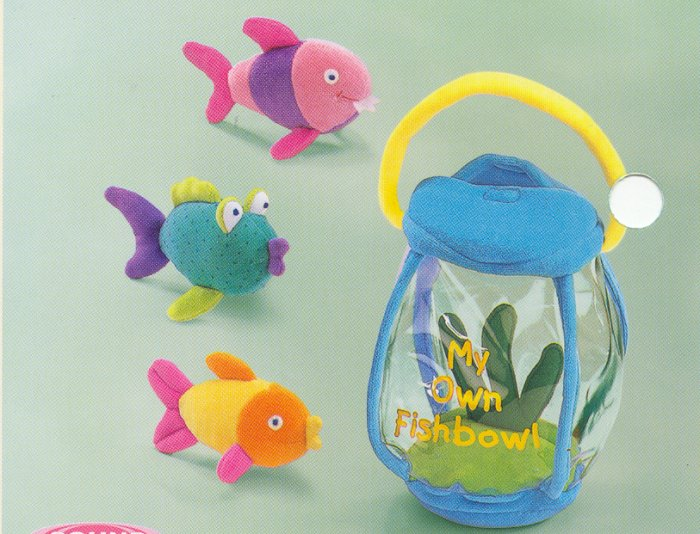 Russ Plush My Own Fishbowl Activity Set FREE USA SHIPPING!