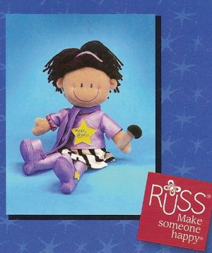 Russ Make A Wish Rock Star Velour Doll FREE USA SHIPPING!