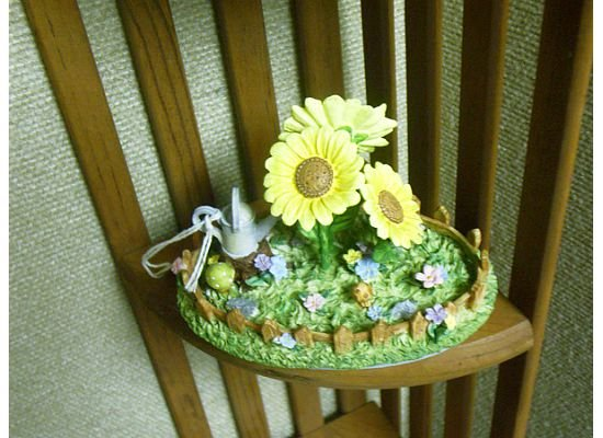 Russ Berrie Oval Candle Jar Topper - Spring Sunflower Oasis - FREE USA SHIPPING!!!