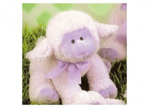 LuLu Lavender Lamb by Russ Berrie - Small - FREE USA SHIPPING!