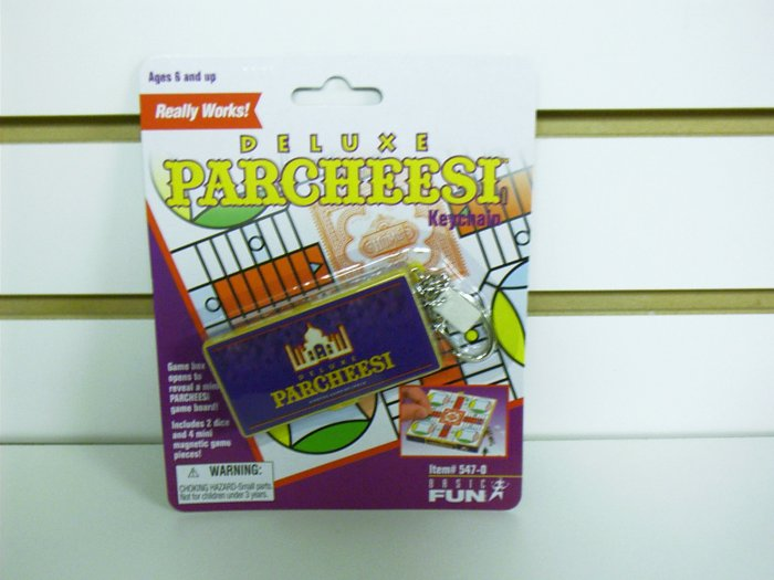 Deluxe Parcheesi Classic Games Keychain by Basic Fun FREE USA SHIPPING!!