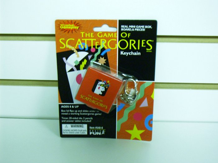 Scattergories Classic Games Keychain by Basic Fun FREE USA SHIPPING!!