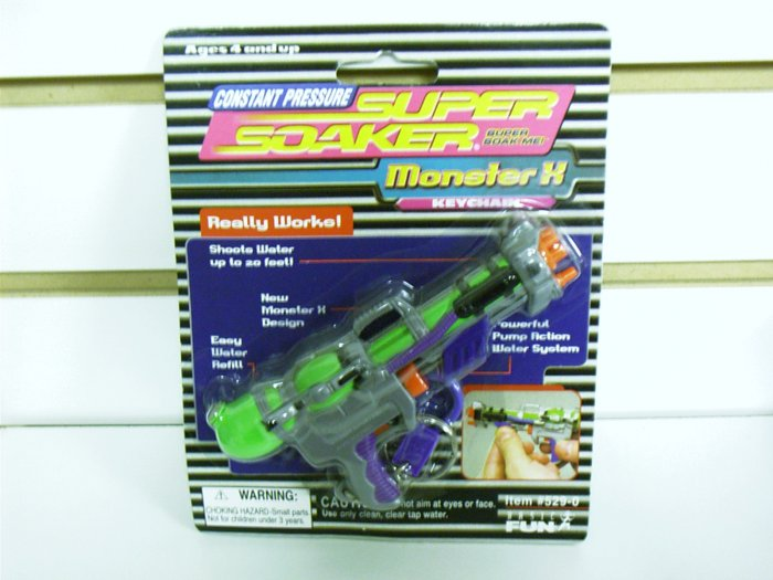 Super Soaker Monster Water Gun Keychain by Basic Fun FREE USA SHIPPING!!