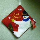 Russ Berrie Christmas - Moments of Wonder Snowman  Hot Pad FREE USA SHIPPING