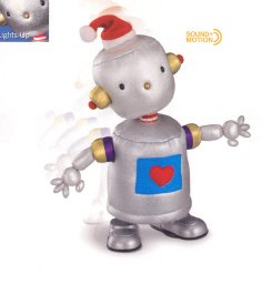 Russ Berrie Christmas - Santa's Toyland Musical Walking Bleap Robot FREE USA SHIPPING