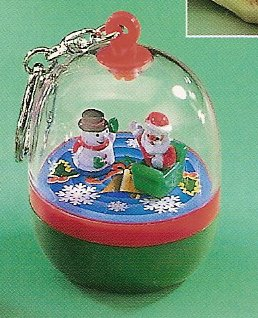 Russ Berrie Stocking Stuffer Wind Up Spinning Santa & Snowman Clip On FREE USA SHIPPING!