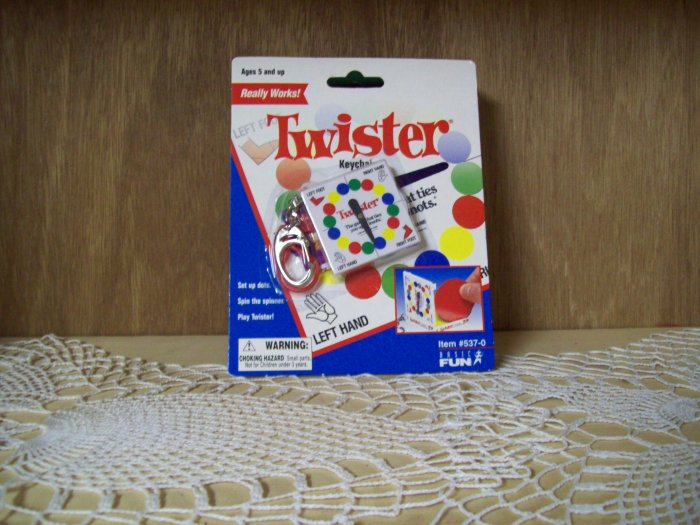Twister Classic Games Keychain by Basic Fun FREE USA SHIPPING!!