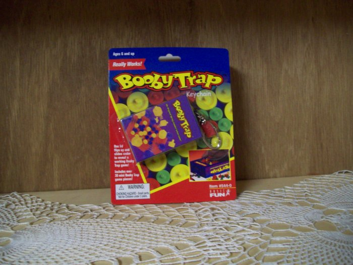 Booby Trap Classic Games Keychain by Basic Fun FREE USA SHIPPING!!