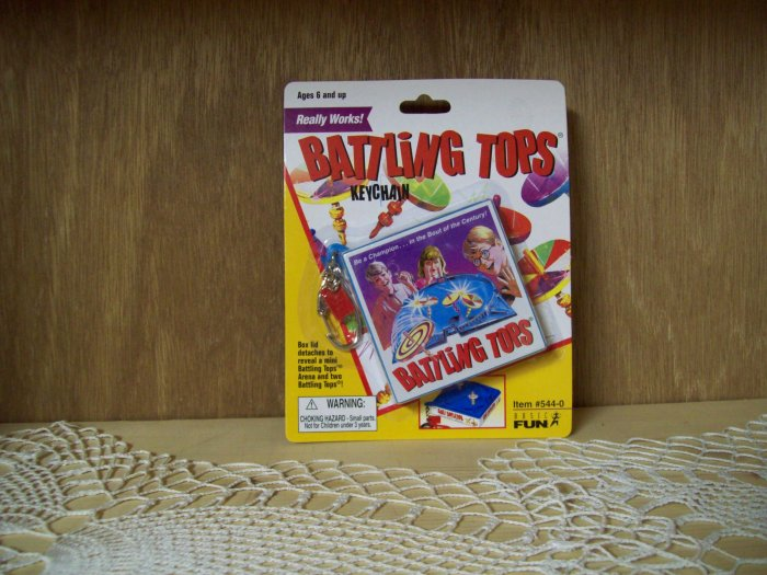Battling Tops Classic Games Keychain by Basic Fun FREE USA SHIPPING!!