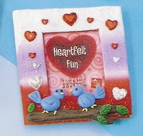 Russ Berrie Valentine Mini Magnet Photo Frame - Lovebirds FREE USA SHIPPING!!