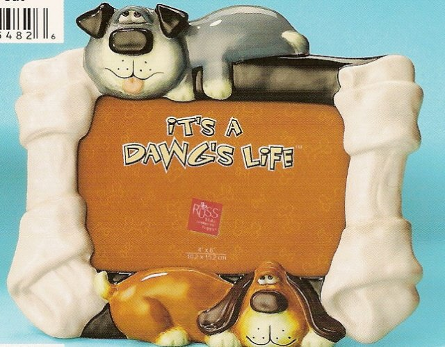 Russ Berrie It's A Dawg's Life Dog Photo Frame - FREE USA SHIPPING!
