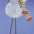 Russ Celebration of the Season Long Legged Glass Ornament Snowman FREE USA SHIPPING