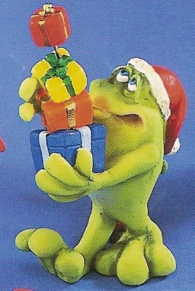 Russ Toadily Yours Christmas Frog with Presents 22036 FREE USA SHIPPING!