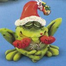 Russ Toadily Yours Christmas Frog with Mistletoe 22654 FREE USA SHIPPING!