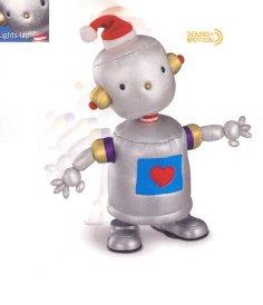 Russ Berrie Christmas - Santa's Toyland Musical Walking Bleap Robot FREE USA SHIPPING