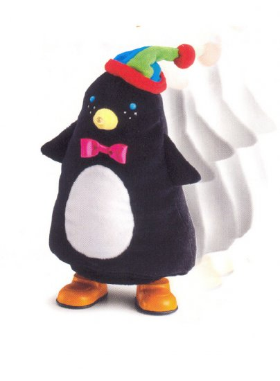 Russ Berrie Christmas - Santa's Toyland Musical Walking Penguin FREE USA SHIPPING!