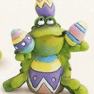 Russ Toadily Yours Easter Frog Juggling Eggs 27612 FREE USA SHIPPING!