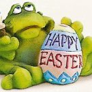 Russ Toadily Yours Easter Frog Painting Egg 27612 FREE USA SHIPPING!