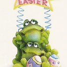 Russ Toadily Yours Easter Frog Easter Banner 27612 FREE USA SHIPPING!