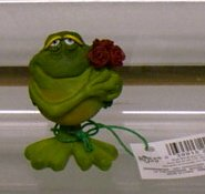 Russ Toadily Yours Valentine Frog with Rose Bouquet 22577 FREE USA SHIPPING!