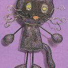 Russ Halloween Happy Hauntings Metal Mesh Ornament - Black Cat FREE USA SHIPPING!