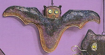 Russ Halloween Happy Hauntings Metal Mesh Ornament - Bat FREE USA SHIPPING!!