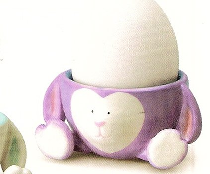 Russ Berrie Welcome Friends Easter Egg Cup with Feet - Purple Lamb - FREE USA SHIPPING!!!