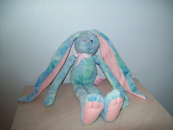 Russ Berrie Easter & Spring - Kimbo the Long Earred Bunny - Blue Green Parfait FREE USA SHIPPING!