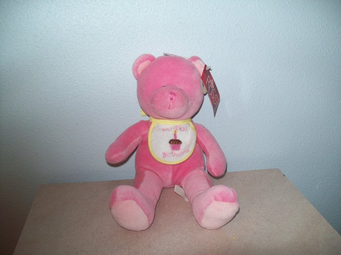 Wholesale Set of 6 Russ Berrie Baby Collection - First Birthday Bear - Pink FREE USA SHIPPING!