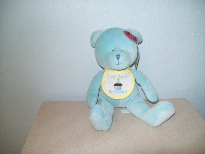 Wholesale Set of 6 Russ Berrie Baby Collection - First Birthday Bear - Blue FREE USA SHIPPING!