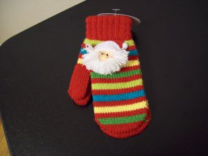Russ Berrie Warm and Toasty Toddler Mittens - Santa FREE USA SHIPPING