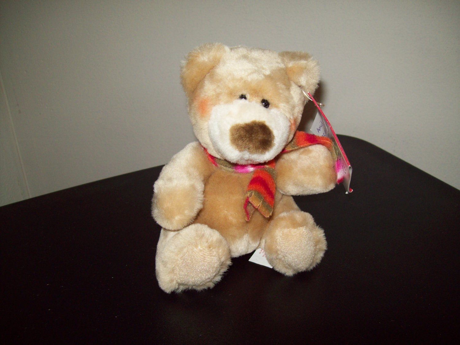Russ Berrie Christmas - Plush Cubly Small Teddy Bear FREE USA SHIPPING!