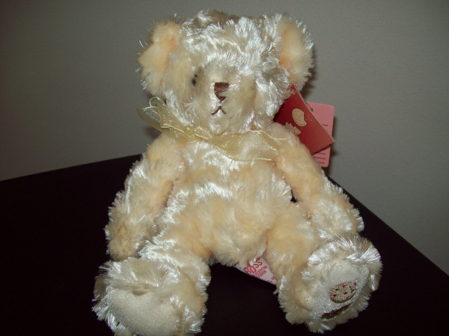 Russ Berrie Christmas - Plush Scented Teddy Bear - Sugar  FREE USA SHIPPING!