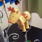 Russ Berrie Santa's Toyland Pull & Dangle Christmas Ornament - Reindeer