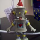 Russ Berrie Santa's Toyland Pull & Dangle Christmas Ornament - Bleap Robot