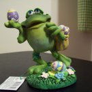 Russ Toadily Yours Easter Collection - Frog with Basket - Doug Harris 27614 FREE USA SHIPPING
