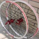 ALEX DP20 Novatec HUB Disc wheelset WHEEL SET RED WHITE