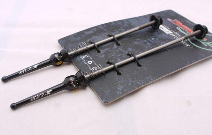 Titanium Quick Release Skewer SET TI AXLE 44g PAIR BLACK FREE SHIPPING