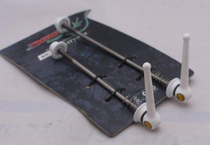 Titanium Quick Release Skewer SET TI AXLE 44g PAIR WHITE FREE SHIPPING
