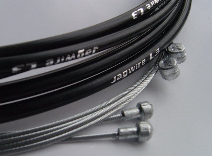 BICYCLE JAGWIRE L3  HOUSING CABLE COMPLETE KIT BLACK SRAM AVID SHIMANO