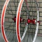 ALEX DP20 Novatec HUB Disc wheelset WHEEL SET RED WHITE MTB 26 INCH