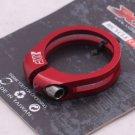 CNC Seatpost SEAT Clamp Titanium Ti bolt 34.9mm RED