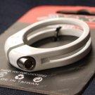 CNC Seatpost SEAT Clamp Titanium Ti bolt 31.8MM  WHITE