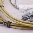 JAGWIRE BRAIDED HOUSING CABLE BRAKE DERAILLEUR KIT GOLD