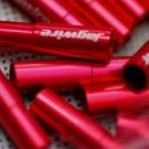 2PCS CNC ALLOY JAGWIRE 5MM END CAPS lined ferrules RED