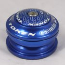 2012 TOKEN Internal Headset 28.6MM 1-1/8'  44MM NEW IN BOX BLUE