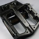WELLGO B087 FLATFORM PEDALS MTB DH BMX BLACK ONE PAIR