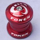 TOKEN Threadless Headset 28.6MM 1-1/8' RED MTB NEW IN BOX